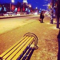 Photo taken at Остановка «ПКиО им. Гагарина» by Ilya K. on 3/4/2014