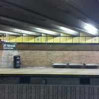 Photo taken at MTA Subway - 21st St/Queensbridge (F) by Klaus C. on 2/18/2013
