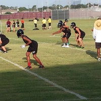 Photo taken at Pearland Oilers Juniors Practice Field by Glenn P. on 8/7/2013