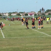 Photo taken at Pearland Oilers Juniors Practice Field by Glenn P. on 8/5/2013