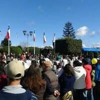 Photo taken at Plaza de Armas de Fresia by Paola B. on 9/18/2012