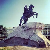 Photo taken at Bronze Horseman by Aliona O. on 7/12/2013