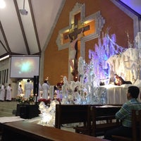 Photo taken at Gereja Katolik Redemptor Mundi by Irma B. on 12/28/2014