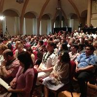 Photo taken at Mission Memorial Auditorium by Burt L. on 1/2/2013