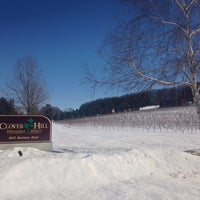 Photo taken at Clover Hill Winery by Vero Alvam on 2/2/2016