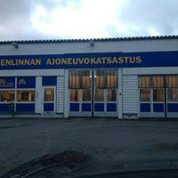 Photo taken at Hämeenlinnan Ajoneuvokatsastus Oy by Hannu M. on 11/13/2013
