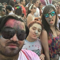 Photo taken at Holi Festival of Colours by Diego A. on 10/24/2015