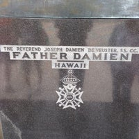 Photo taken at Saint Damien of Molokaʻi Statue by Mabura G. on 1/2/2014