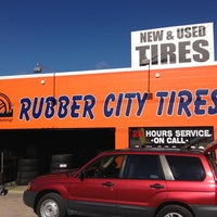 Photo taken at Rubber City Tires by Tim J. on 3/19/2014