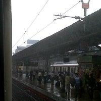 Photo taken at Charni Road Railway Station by Priyesha N. on 7/10/2013