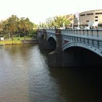 Photo taken at River Terrace by Lija W. on 10/1/2012