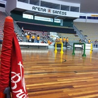 Photo taken at Arena Santos by Fabio E. on 10/15/2012