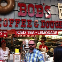 Photo taken at Bob's Coffee & Doughnuts by Andy M. on 7/21/2013