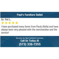 Photo taken at Pauls Furniture Outlet by Richard B. on 1/15/2018