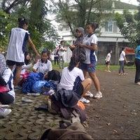 Photo taken at Lapangan SMP Institut Indonesia Semarang by KIKY R. on 6/12/2013