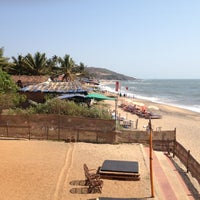 Photo taken at Anjuna Beach by Nataly W. on 3/21/2013