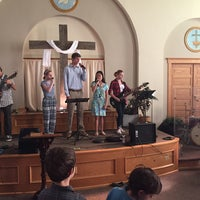 Photo taken at First Baptist Church of Brunswick by Phil G. on 6/14/2015