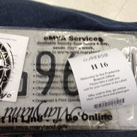 Photo taken at Maryland Motor Vehicle Administration (MVA) by Phil G. on 10/16/2012