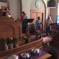 Photo taken at First Baptist Church of Brunswick by Phil G. on 4/5/2015