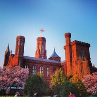 Photo taken at Smithsonian Institution Building (The Castle) by Jason T. on 4/5/2013