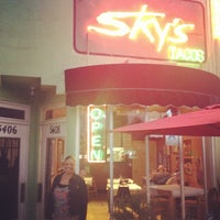 Photo taken at Sky's Gourmet Tacos by Brad W. on 5/4/2013