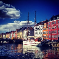 Photo taken at Nyhavnsbroen by Virginia Y. on 4/4/2013