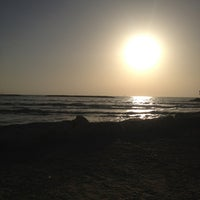 Photo taken at Frishman Beach by Mijael S. on 2/9/2013
