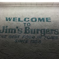 Photo taken at Jim's Burgers by George P. on 2/27/2015