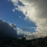 Photo taken at Sai Wan Ho 西灣河 by Alice C. on 6/16/2013