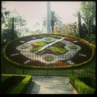 Photo taken at Parque Luis G. Urbina (Parque Hundido) by Marlon L. on 1/18/2013