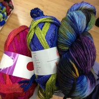 Photo taken at Over the Rainbow Yarn by Maggi B. on 11/25/2012