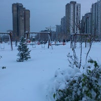 Photo taken at Park u bloku 62 by Vera R. on 12/9/2012