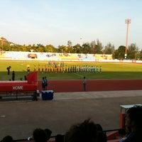 Photo taken at Sam Ao Stadium by New J. on 4/20/2014