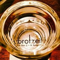 Photo taken at Brotzeit German Bier Bar & Restaurant by Jackie C. on 3/17/2013