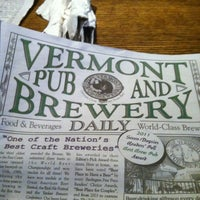 Photo taken at Vermont Pub & Brewery by Stacie E. on 10/26/2012