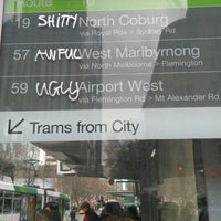 Photo taken at Tram Stop 5 - Melbourne Central (19/57/59) by Ian on 7/26/2016