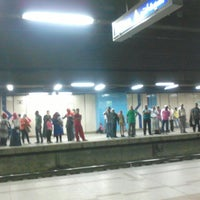 Photo taken at Al Shohadaa Metro Station by Ahmed T. on 10/18/2013