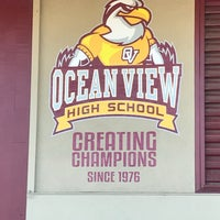 Photo taken at Ocean View High School by CJ Y. on 2/18/2018