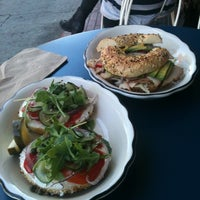 Photo taken at Beauty's Bagel Shop by Shelley M. on 10/18/2012