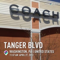 Photo taken at Tanger Outlet Pittsburgh by Kathy N. on 4/27/2013