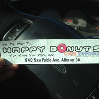Photo taken at Happy Donuts by Kerry B. on 11/19/2011