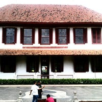 Photo taken at villa Molenvliet (Home of Governor General Dutch East Indies) by Fauzan A. on 2/16/2013