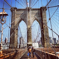 Photo taken at Brooklyn Bridge Promenade by Ilya W. on 5/21/2013