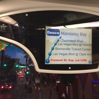 Photo taken at The Deuce Bus Stop at Fremont St by Mr.Max on 3/25/2016