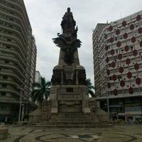 Photo taken at Praça da Independência by Eliane C. on 2/9/2013