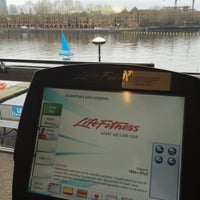 Photo taken at Surrey Docks Watersports Centre by Shayan S. on 4/3/2015
