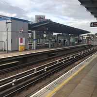 Photo taken at Greenwich DLR Station by Dave R. on 7/16/2017