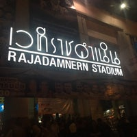 Photo taken at Rajadamnern Stadium by nadee on 11/24/2016