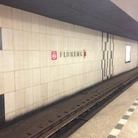 Photo taken at Metro =B= =C= Florenc by Alexander S. on 7/6/2013