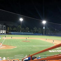 Photo taken at McKethan Stadium at Perry Field by Penny N. on 5/11/2016